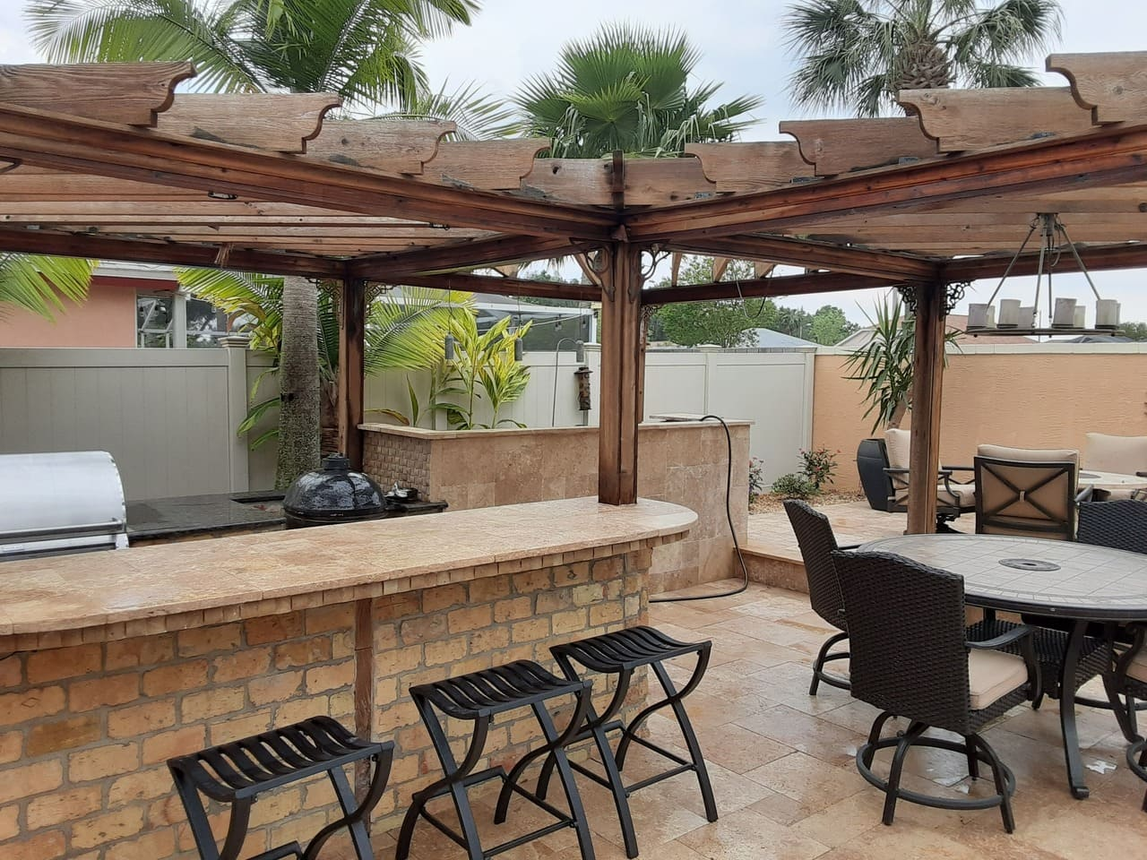 bar after Roof Cleaning in Wesley Chapel