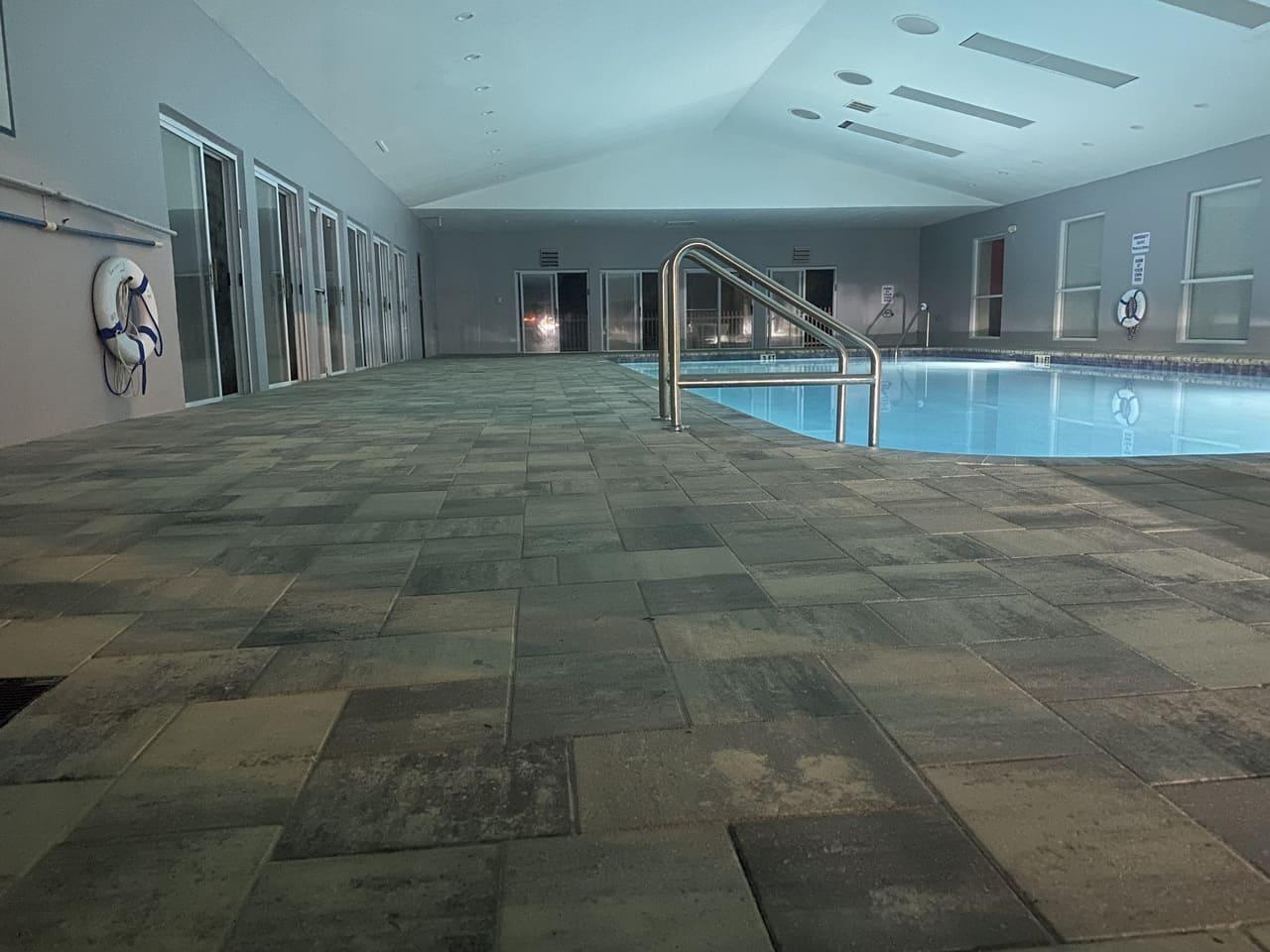 floor basin paver installation