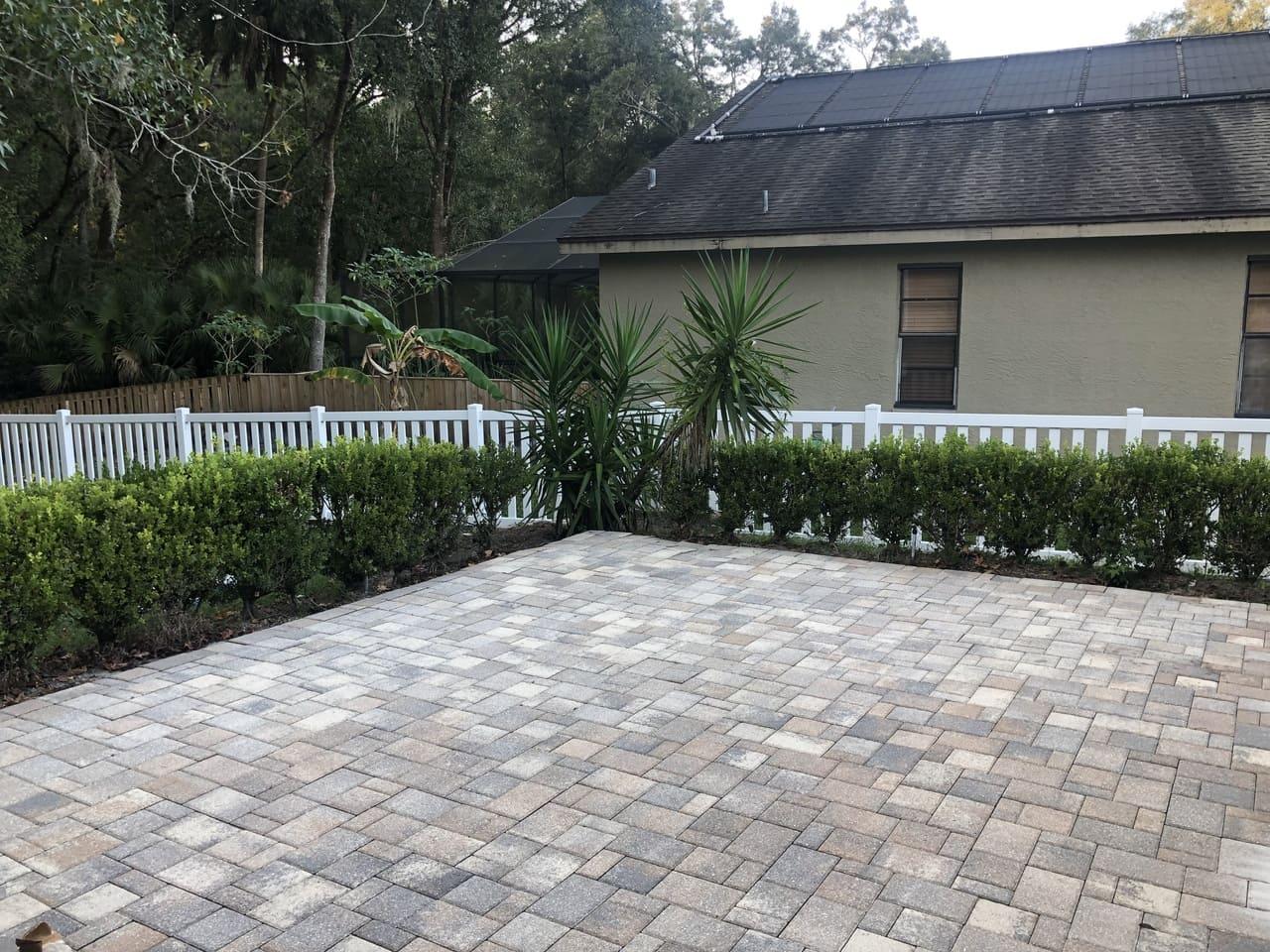 facade house paver stripping