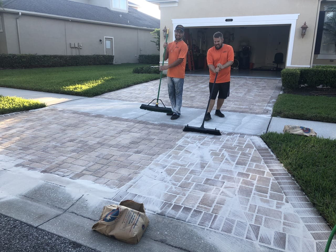 cleaning pavemnt paver stripping