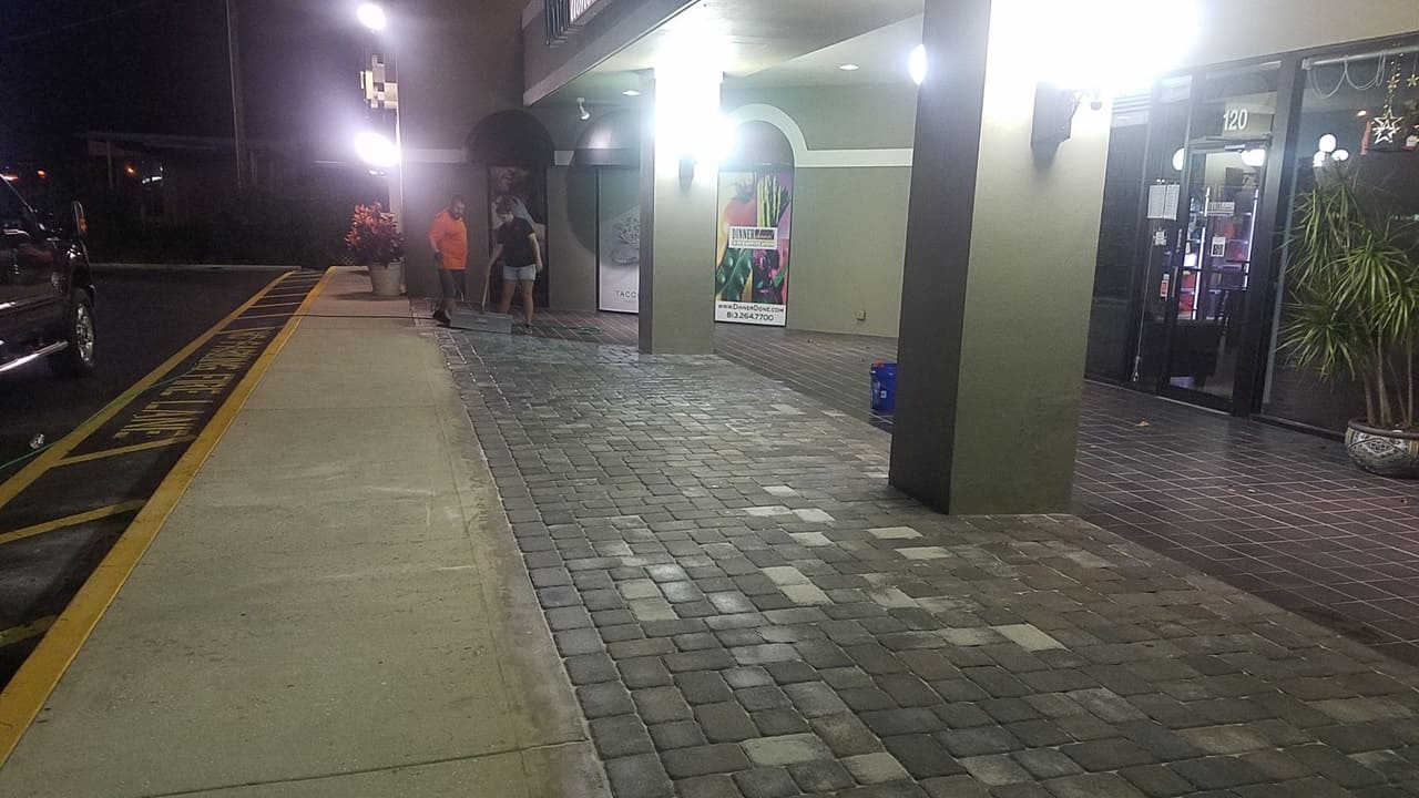 peoples pavement paver stripping