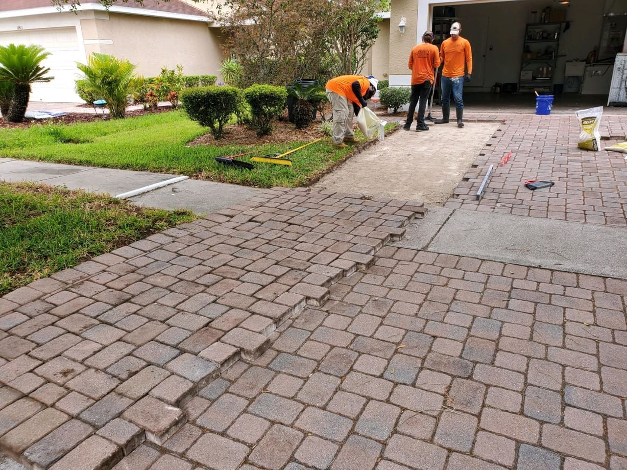 repairs paver installation