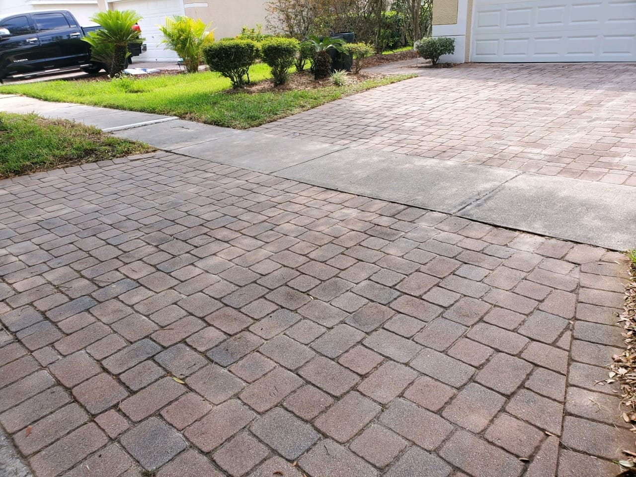 pavement garage paver stripping