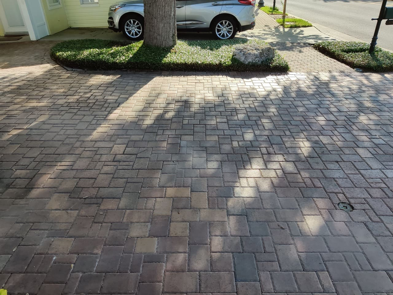 pavement paver stripping