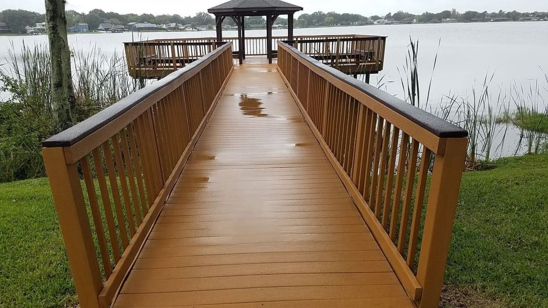 pier after paver repairs