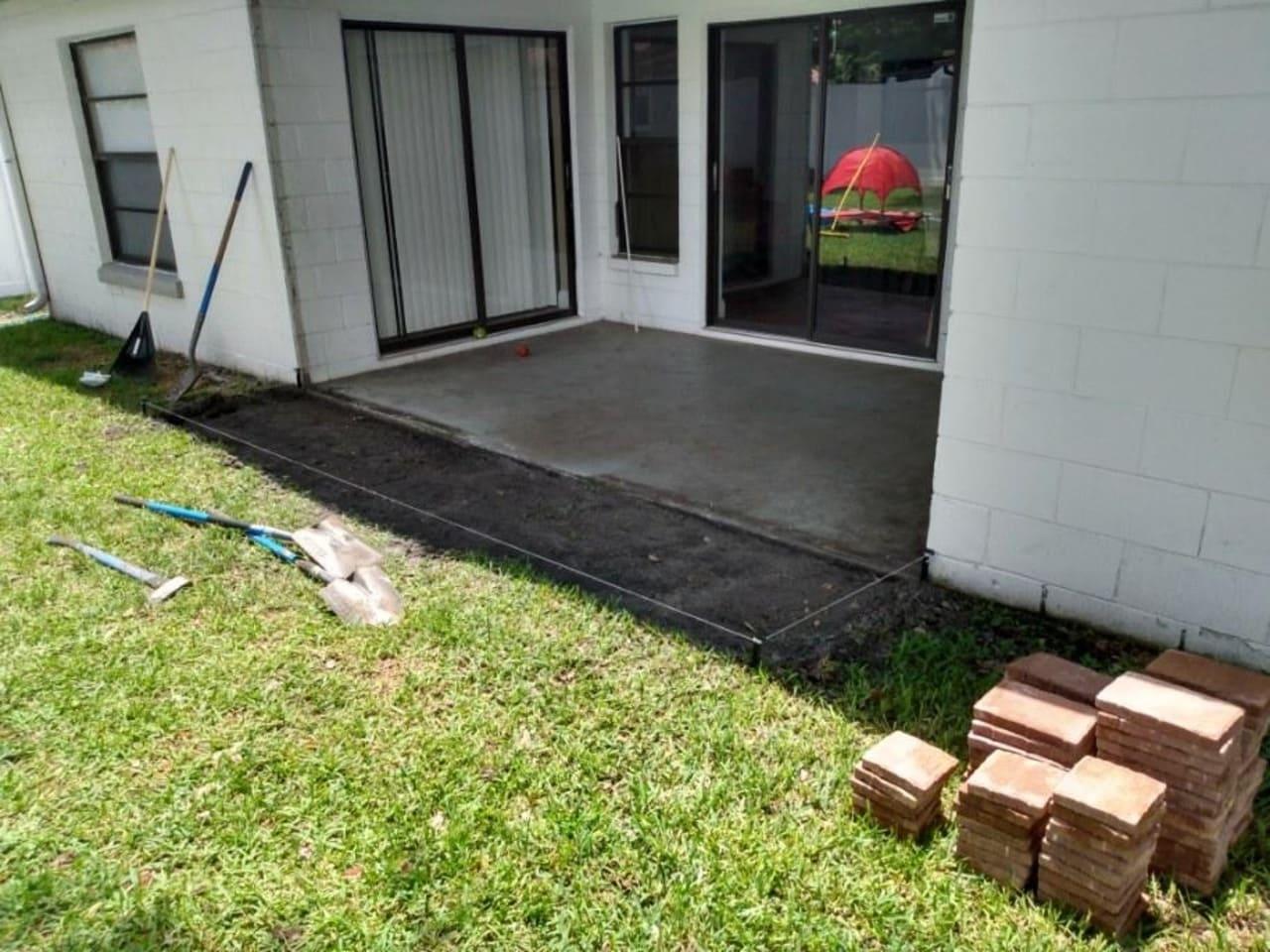 metering paver stripping