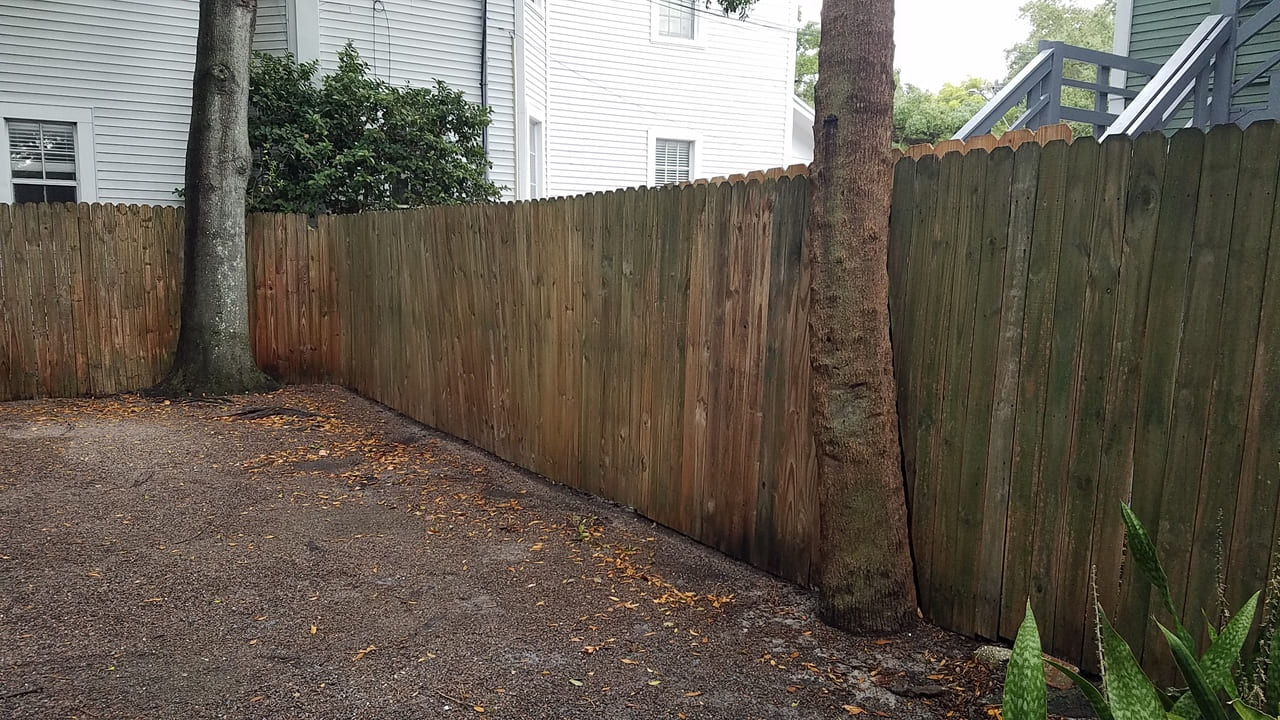 fence after paver installation