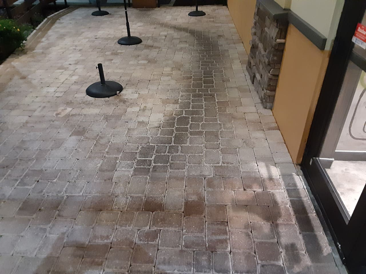 lane before paver stripping