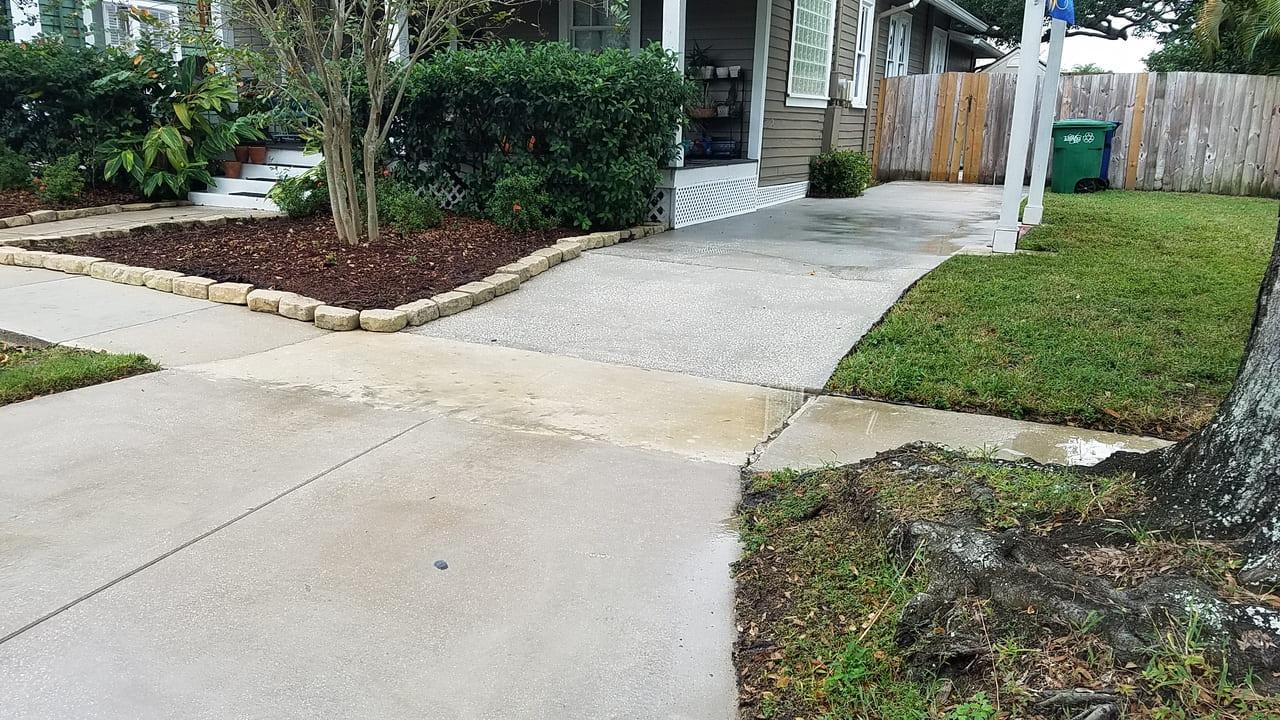 yard residence paver installation