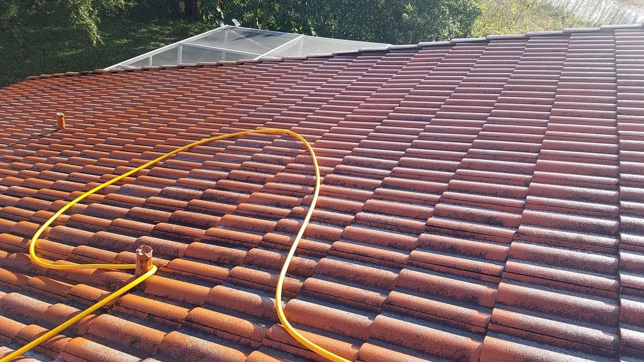dirty roof paver sealing