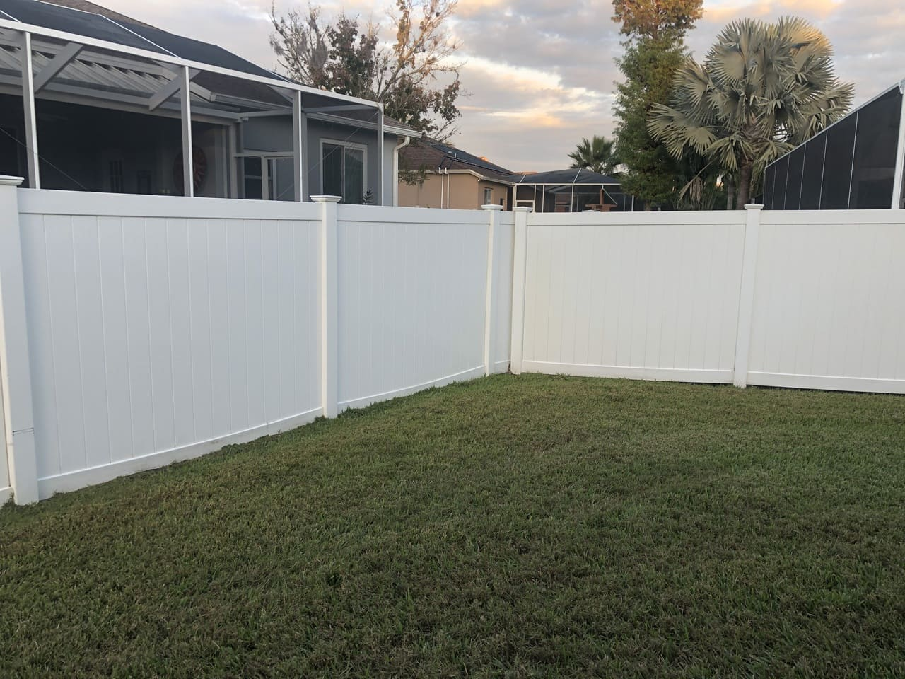 fence yard after paver striping