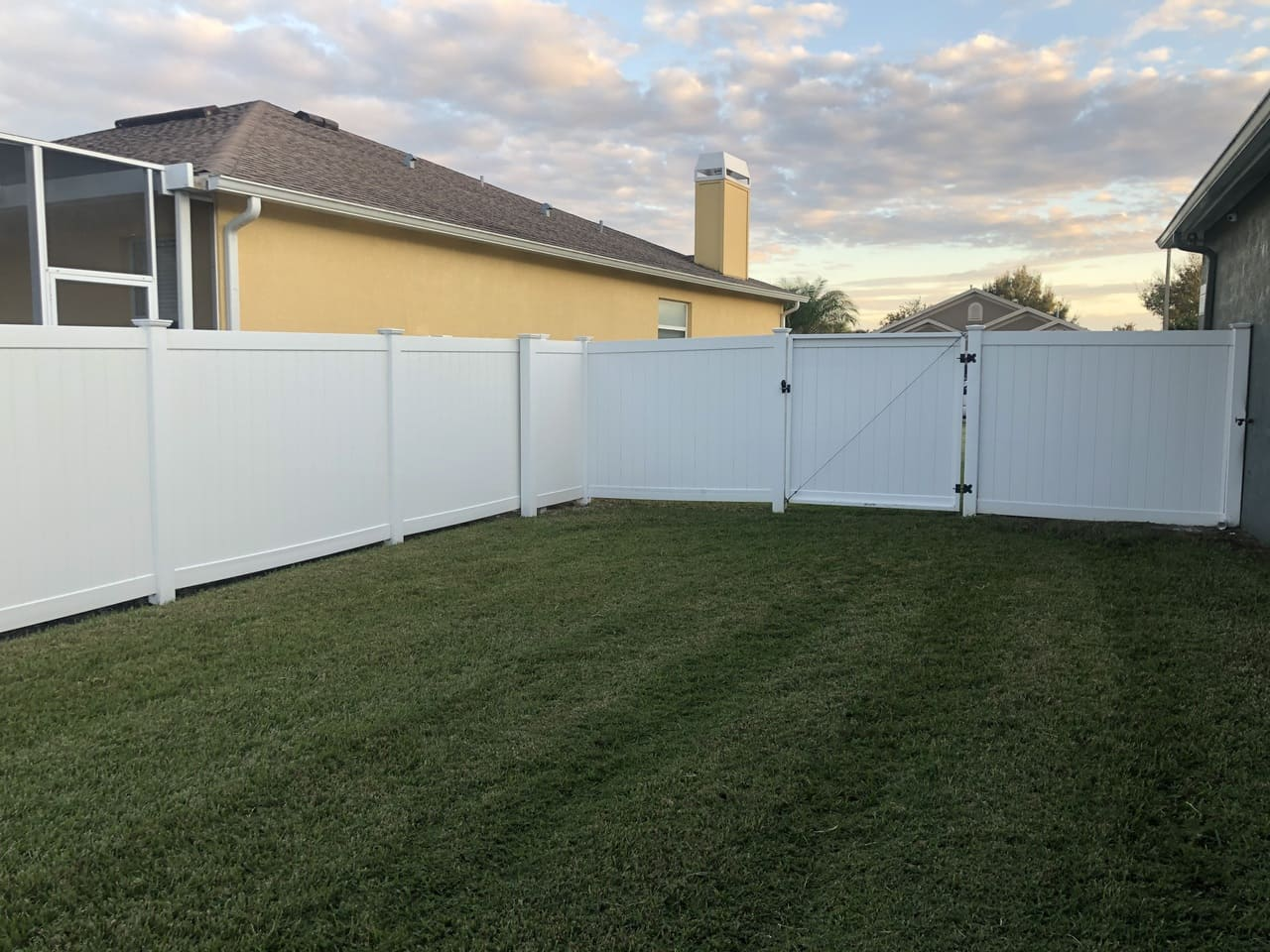 fence after paver sealing