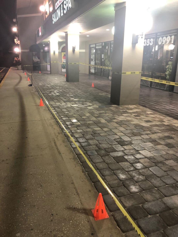border pavement paver installation