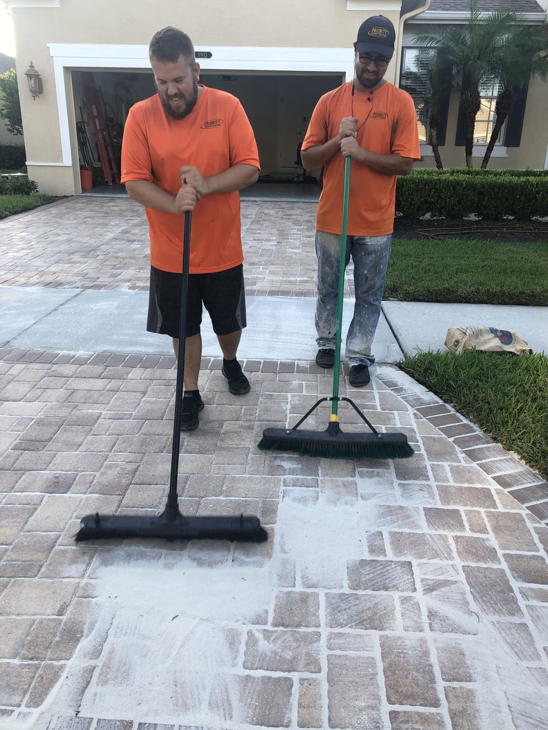 cleaning paver stripping