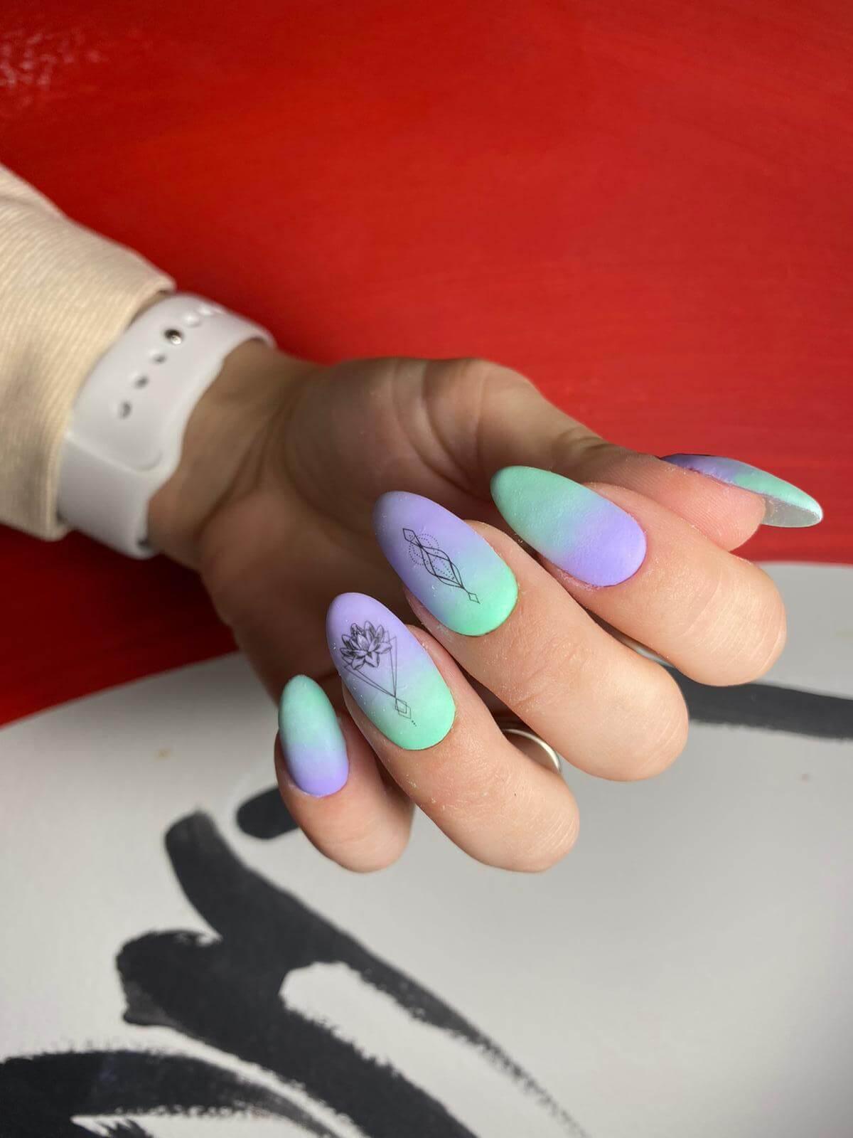 Ombre gel manicure