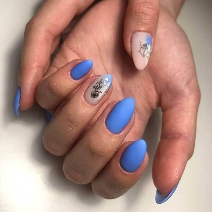 Light blue nail art designs