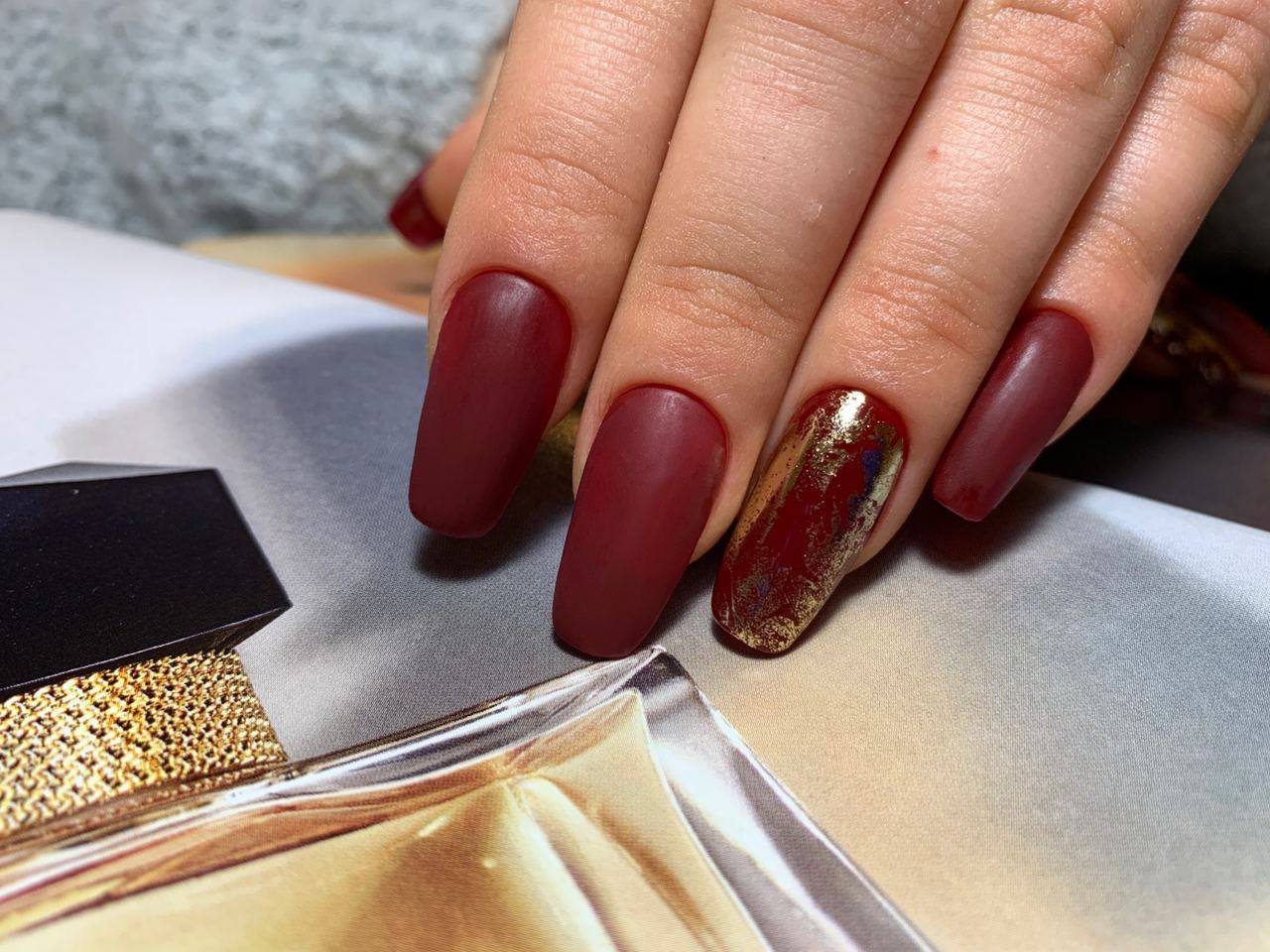 Long Burgundy Nails at The Best Nails and Designs
