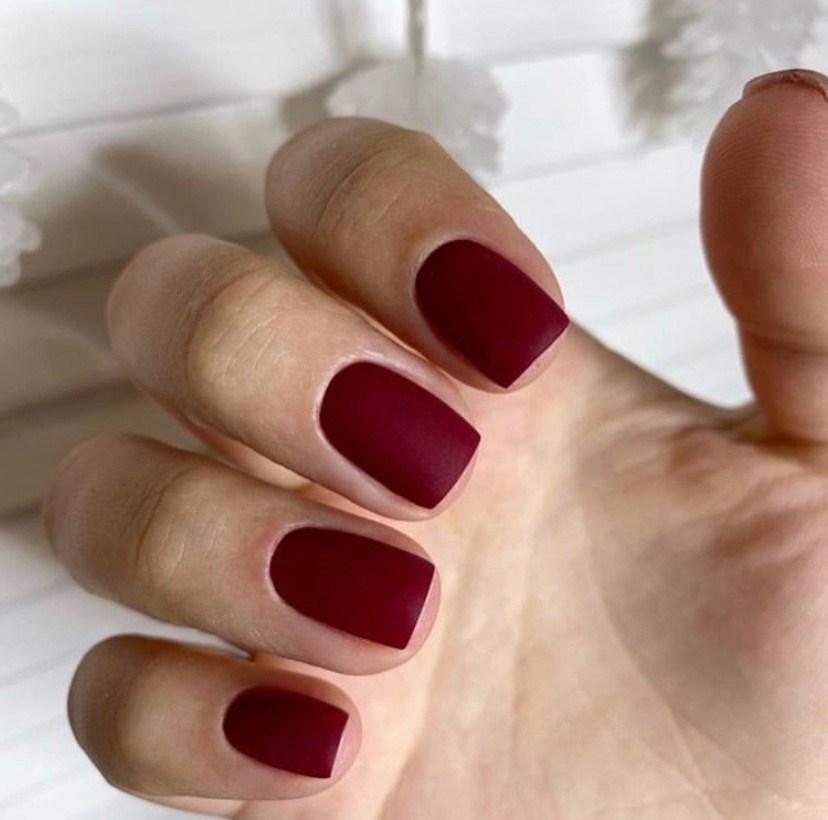 Perfect Matte Burgundy Nails