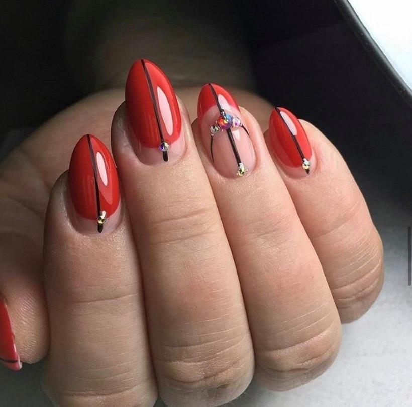 Beautiful Valentine's Day Nail Design