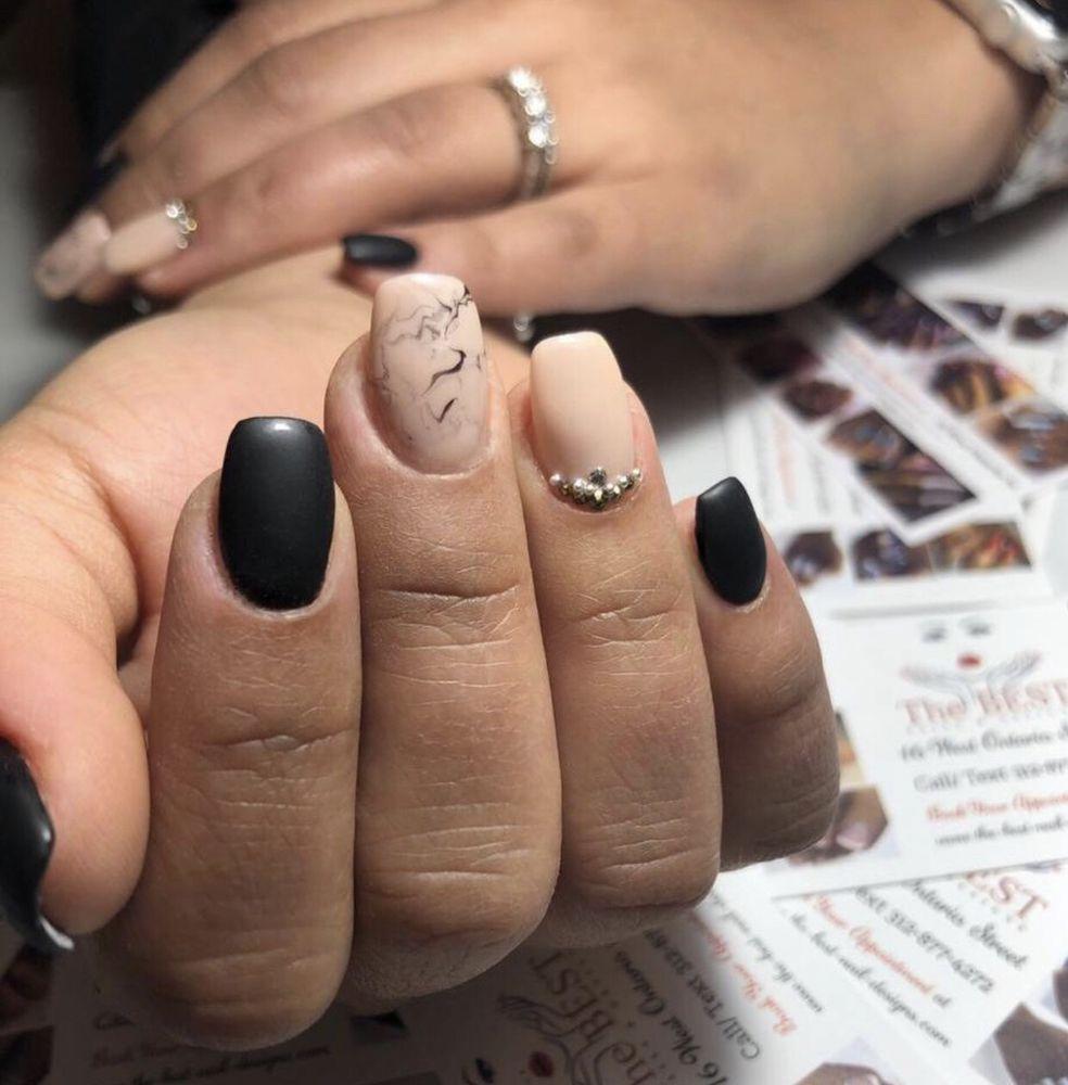 Black Matte Nail Design