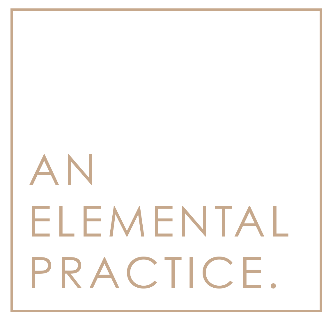 An Elemental Practice. Square Logo