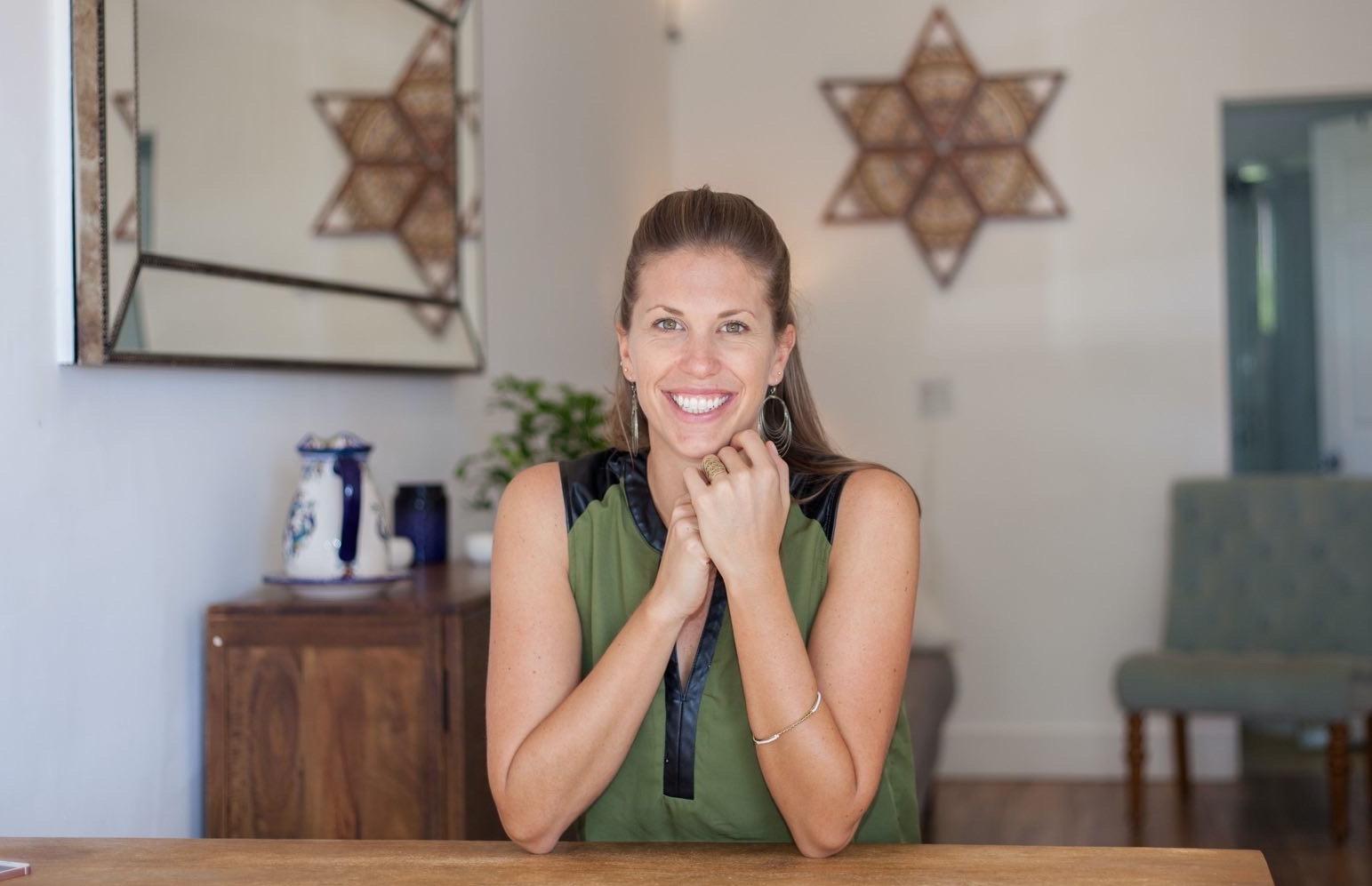 Kathryn at her studio in Kauai.