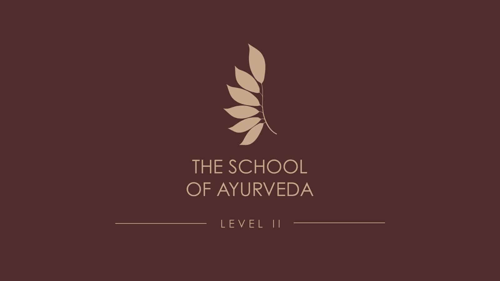 The School of Ayurveda Level II