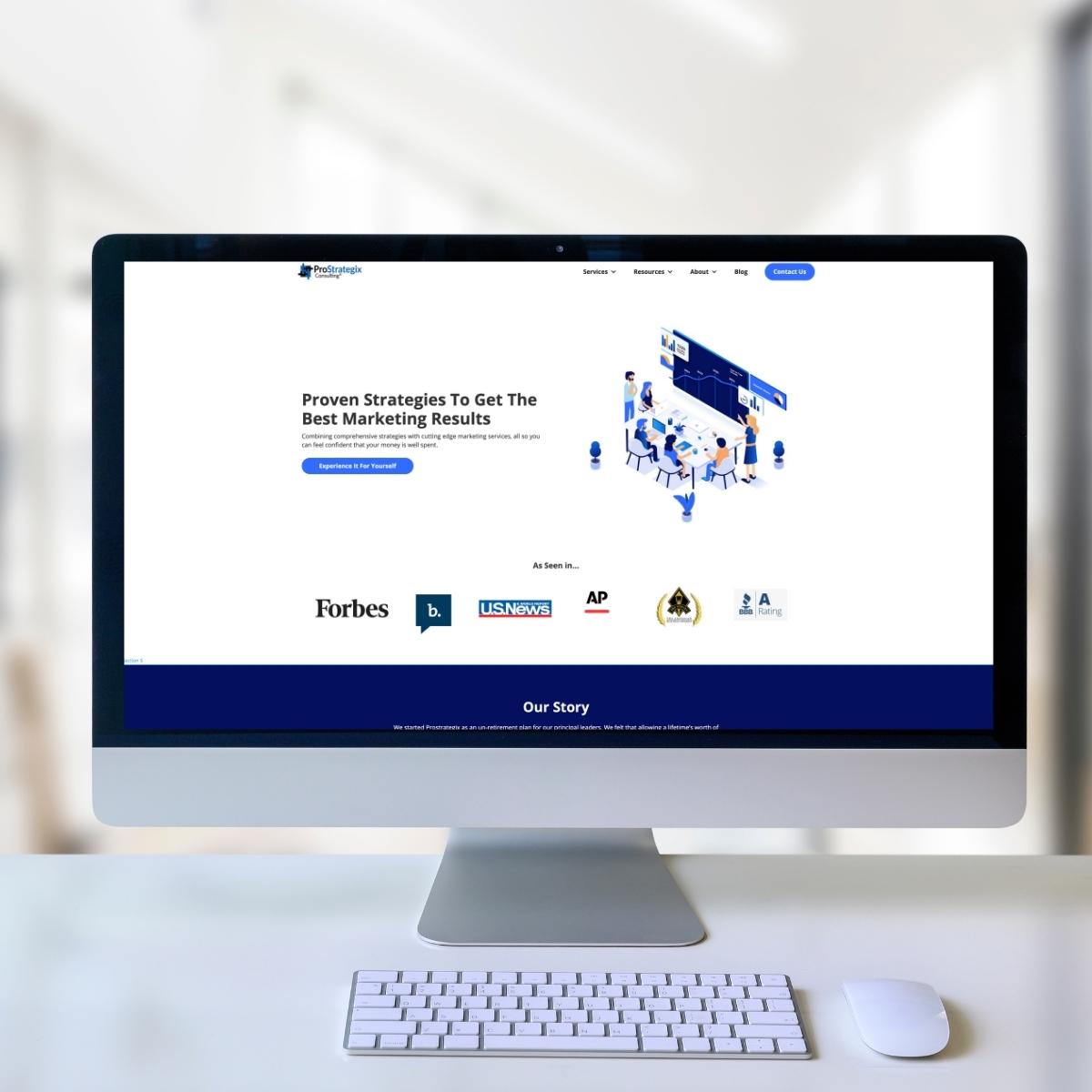 ProStrategix Consulting Website Image