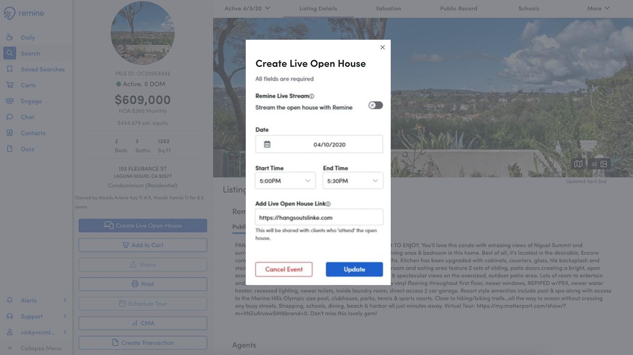 Create Live Open House