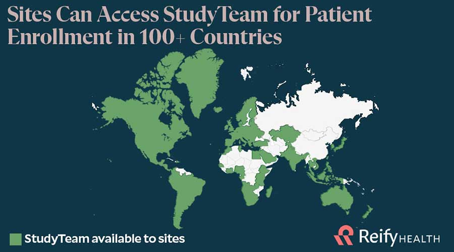 Map of Countries Where StudyTeam Is Available