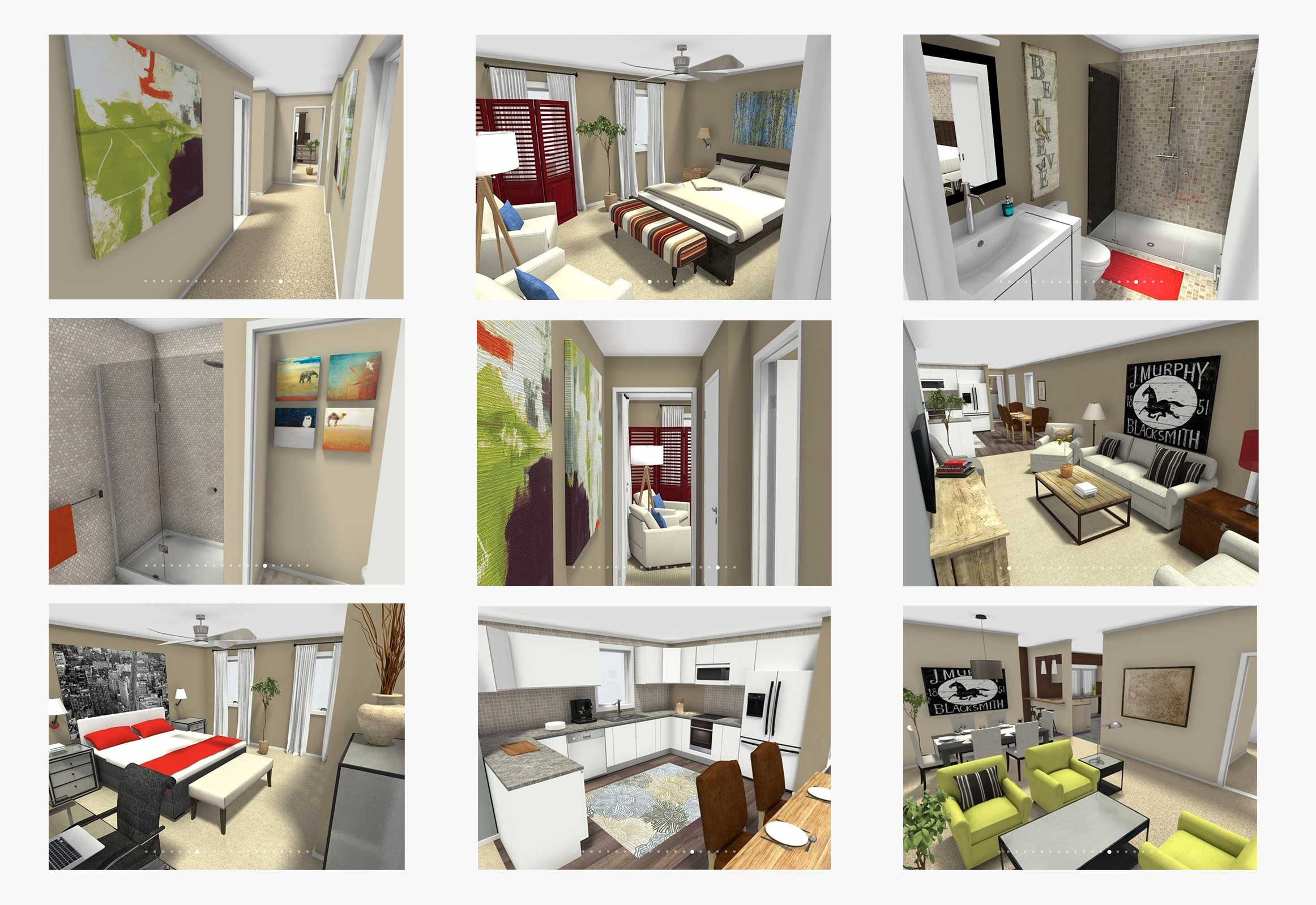 Custom floor plan perspectives
