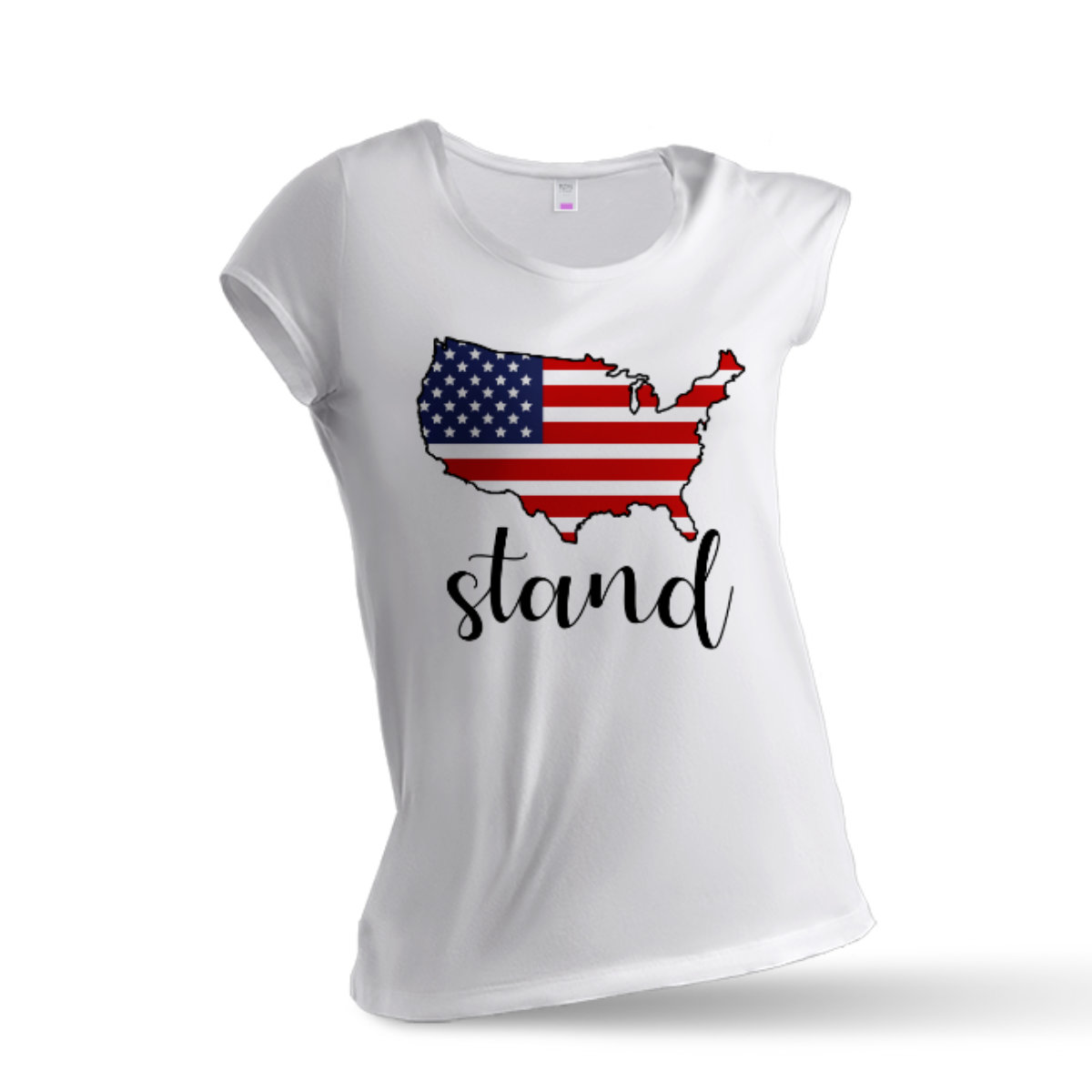 Woman T-Shirt Stand - White