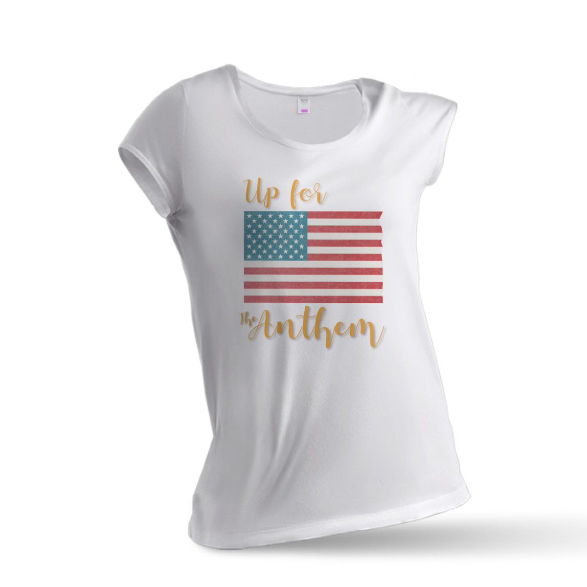 Woman T-Shirt Up for the Anthem (1) - White