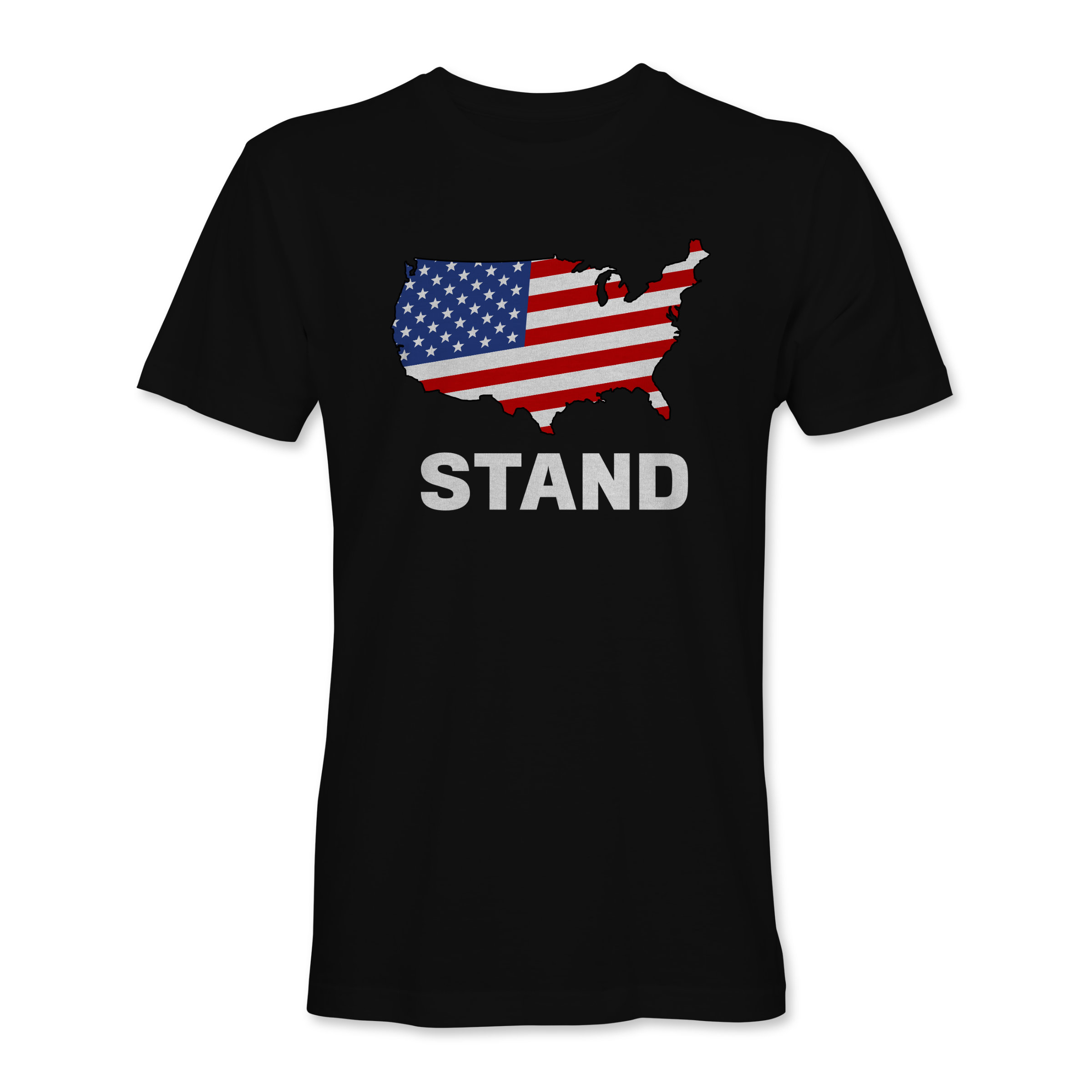 Men T-Shirt Stand Black