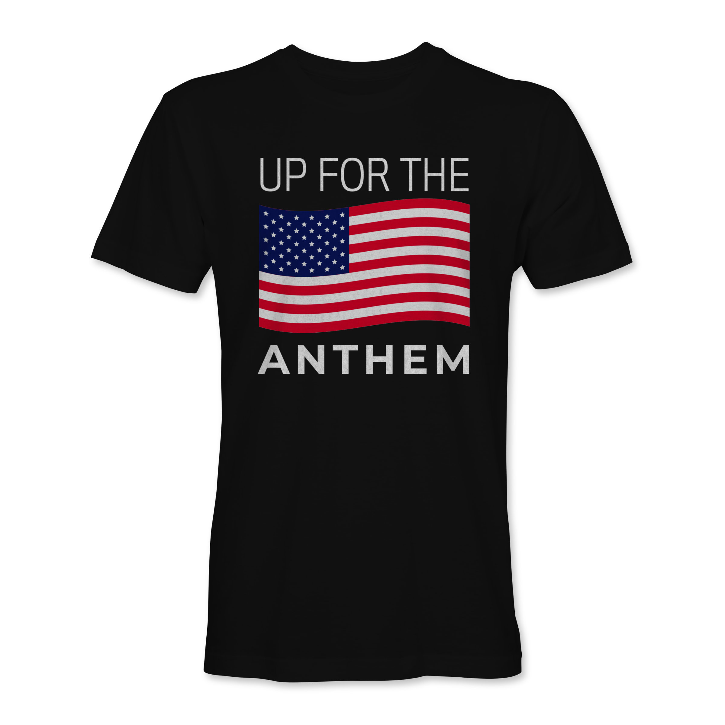 Men T-Shirt Up 4 the Anthem Black