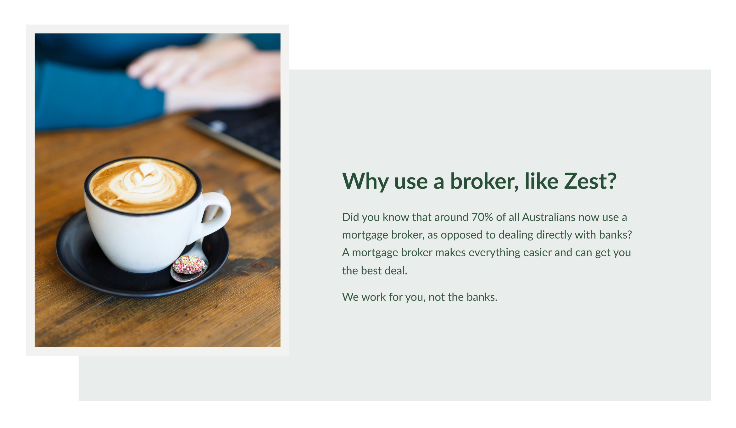 Image showing the Home Hero section of the Zest Mortgage Solutions website
