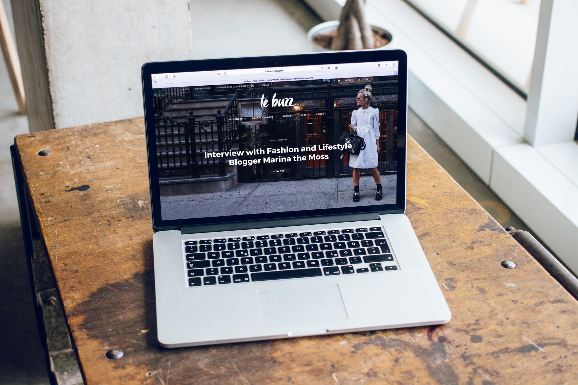 Bild på hemsida