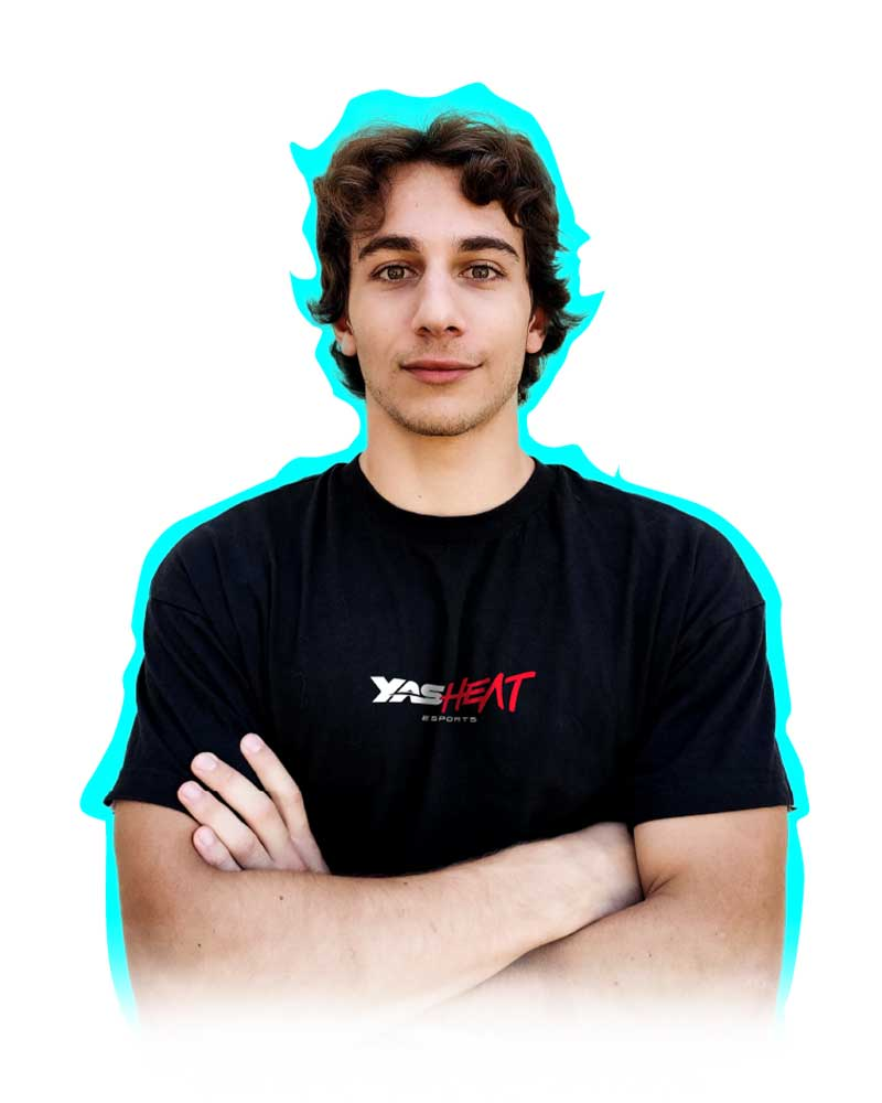 Andrea Capoccia, YAS Heat esports team player