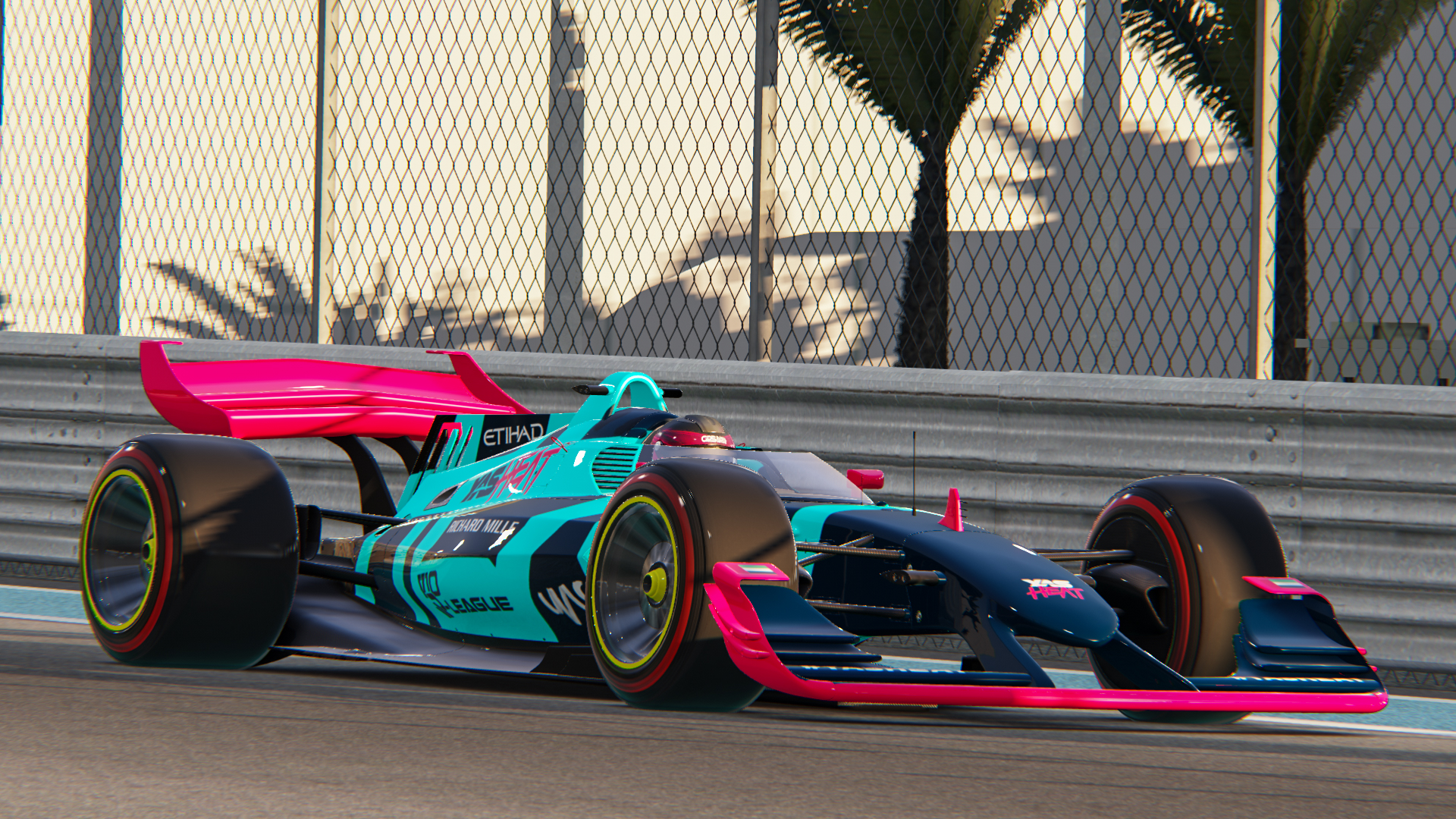 V10 R-League Car Racing around YAS Marina