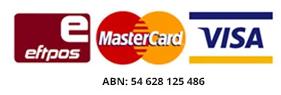 Eftpos Mastercard Visa logos
