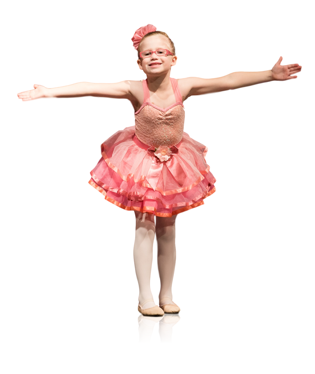Young ballerina blowing a kiss