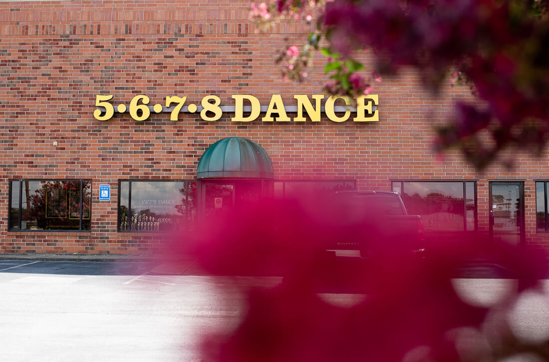 The 5678 Dance studio entrance
