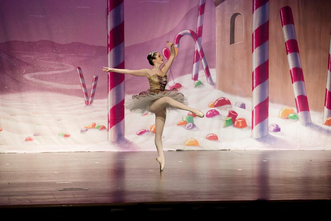 Sugar Plum Fairy ballerina dancing in pointe shoes