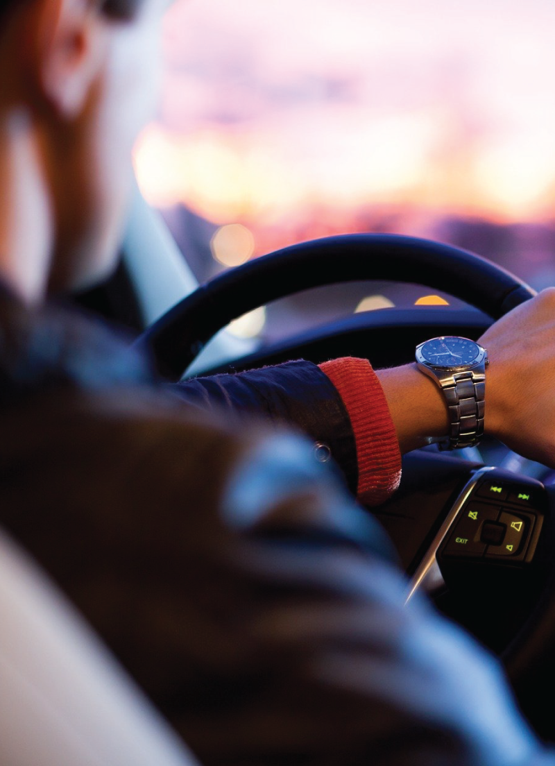 Man with Watch Driving