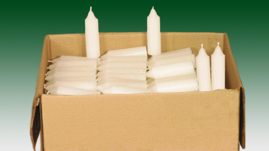 Our candles are produced to the finest quality and we offer a range of different sizes of candles for religious purposes.