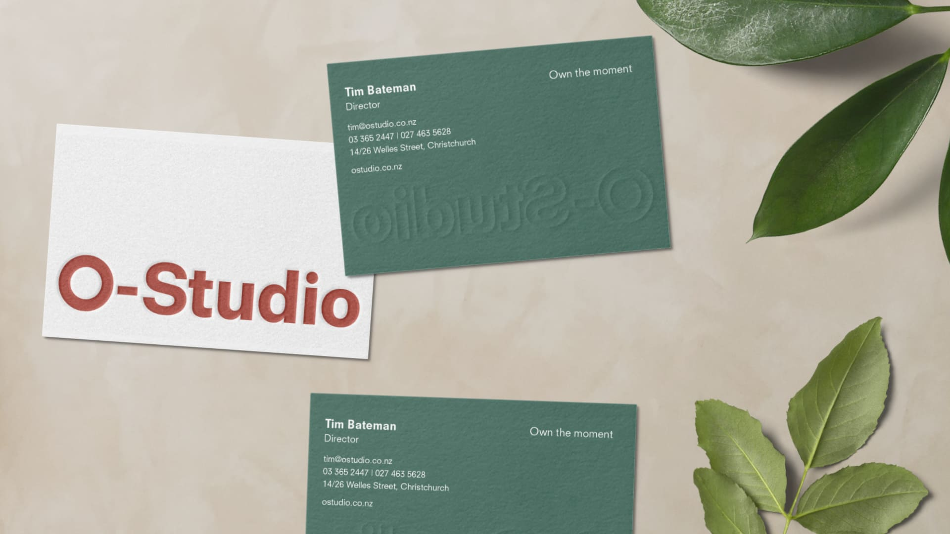 attraction studio o-studio brand business cards