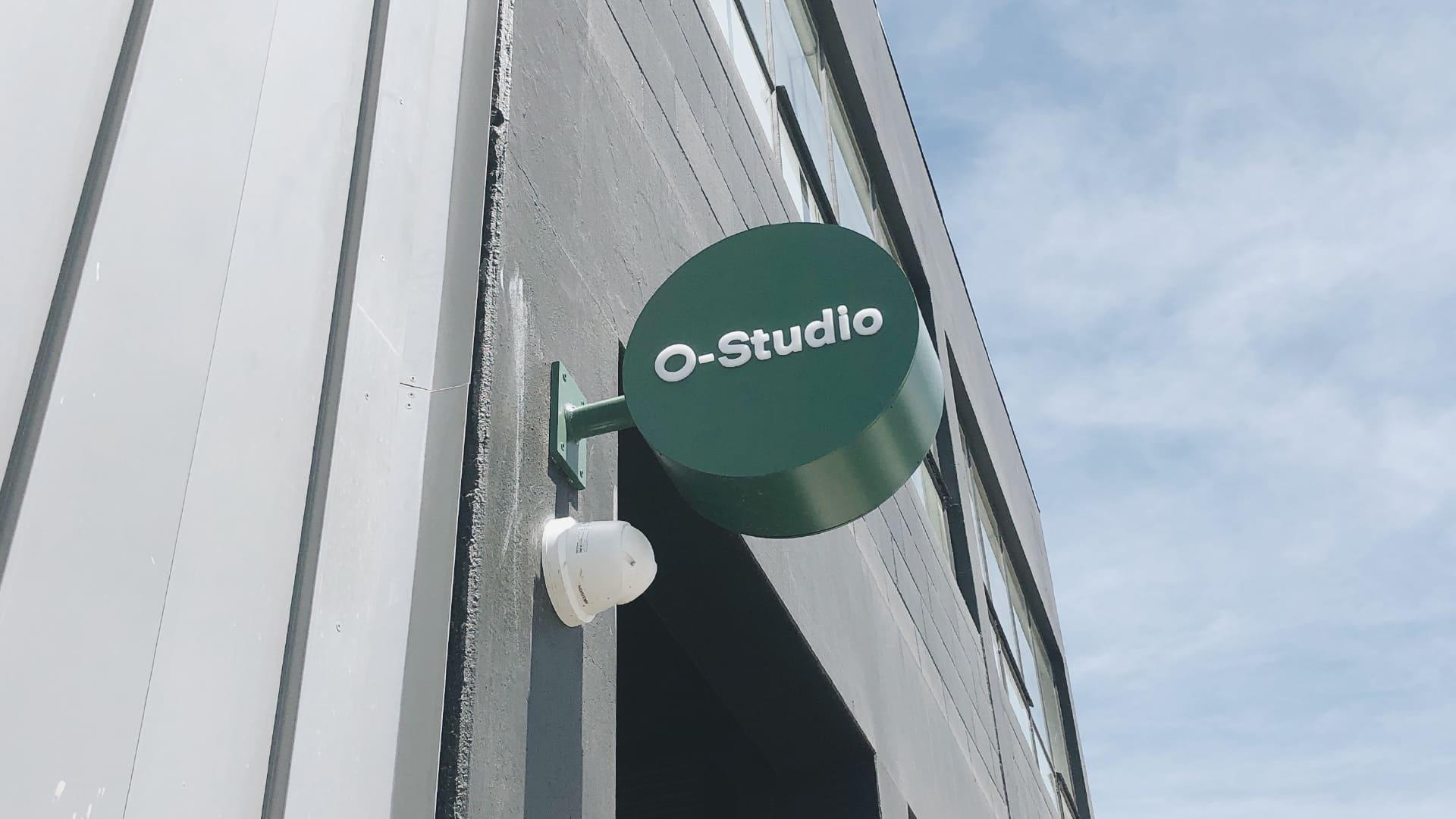 attraction studio o-studio brand outdoor signage