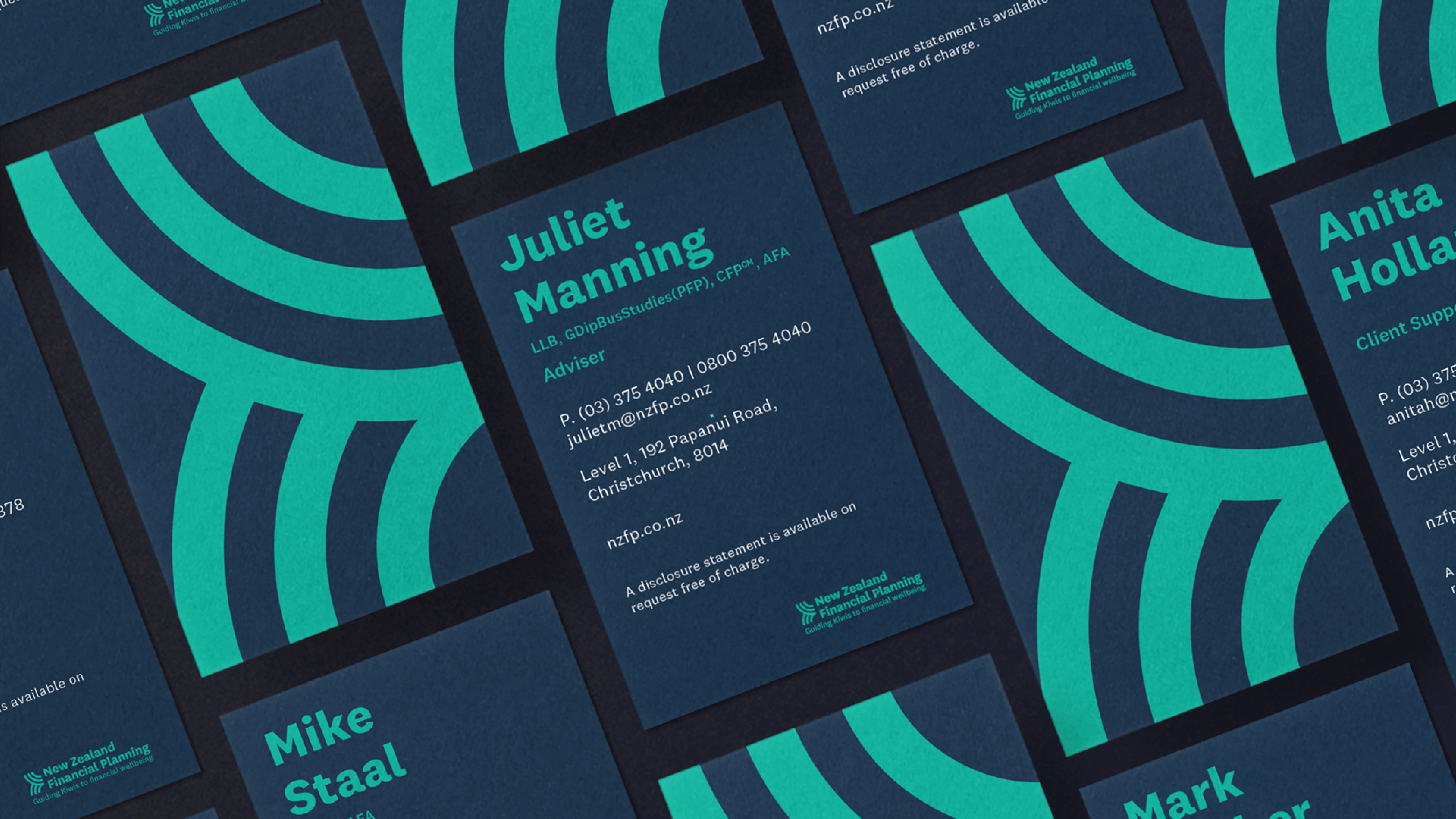attraction studio new zealand financial planning project business cards