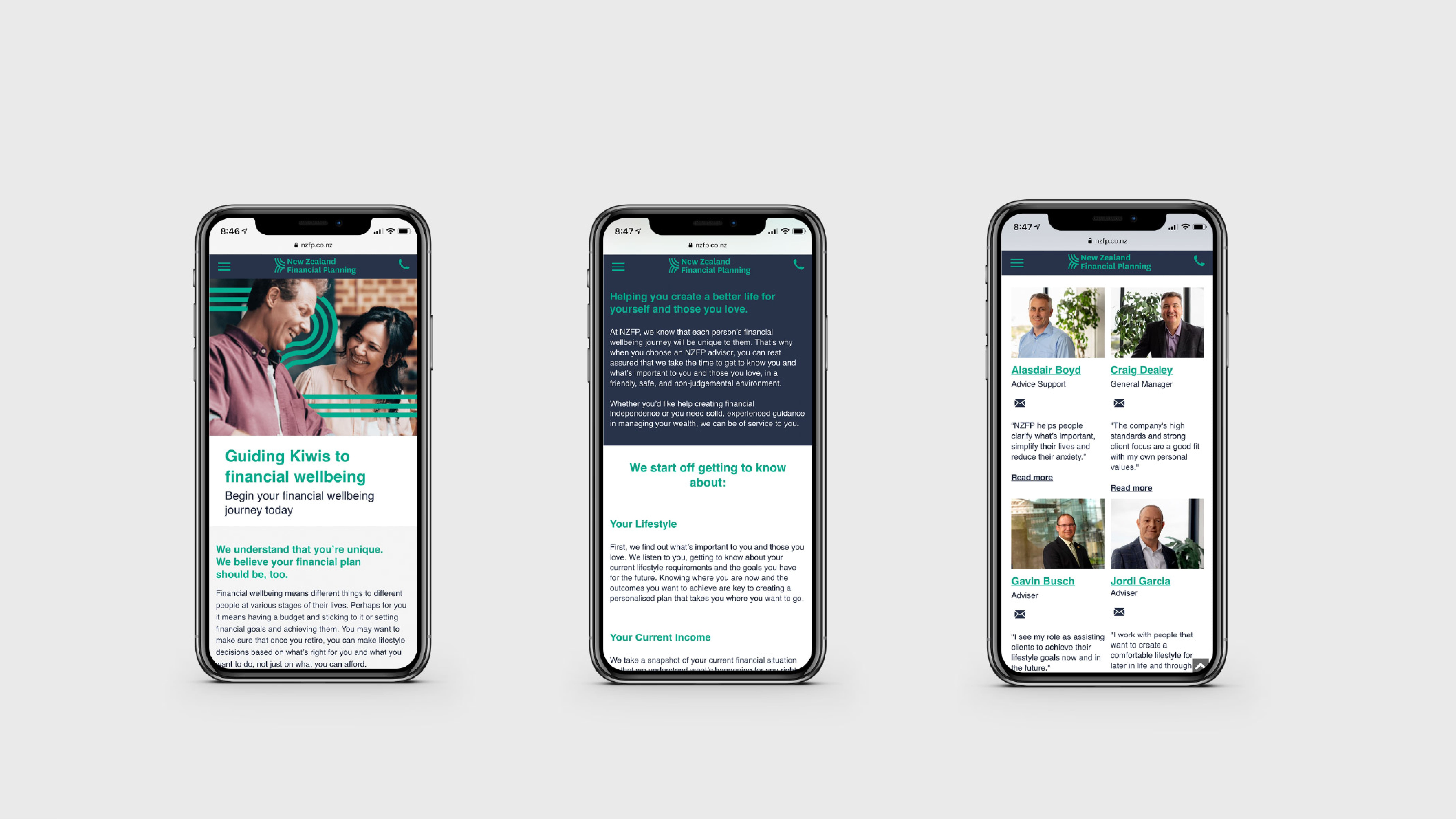 attraction studio new zealand financial planning project mobile views