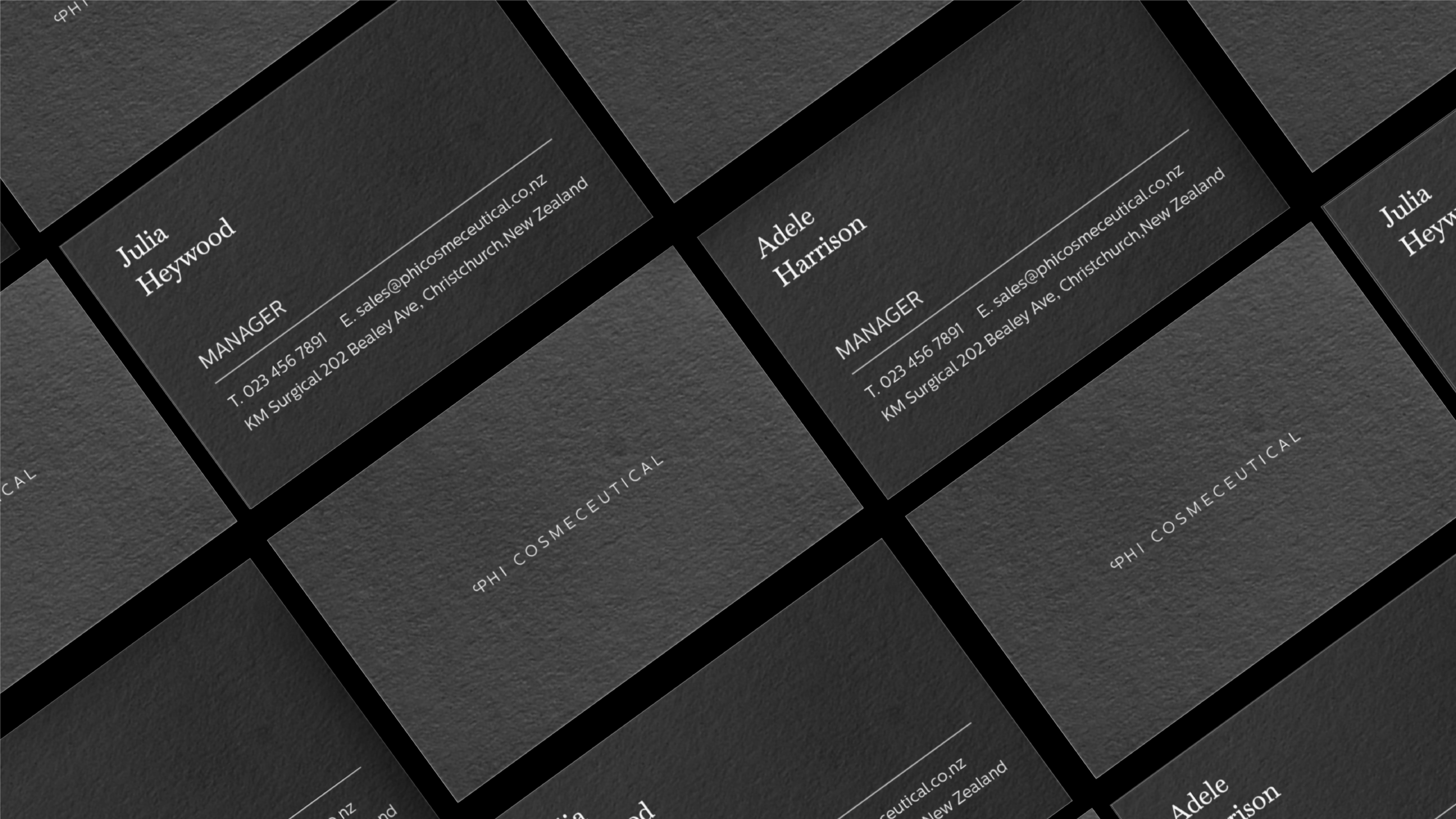 attraction studio phi brand web business cards